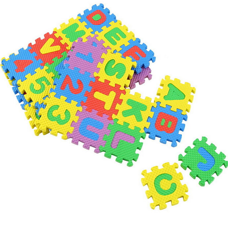 Baby Play Mat Kids Mini EVA Foam Alphabet Letters Number Mat 3D Puzzles T