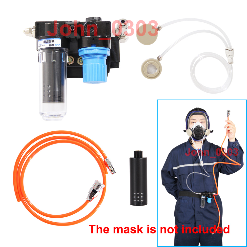 Supplied Air Fed Respirator System For Painting Spraying Gas Mask Respirator 9 in 1 suit gas mask half face respirator painting spraying for 3 m 7502 n95 6001cn dust gas mask respirator
