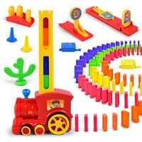 Motorisierte Domino Zug Auto kit Set Up Blöcke Aufzug Sprungbrett Brücke Set Bunte Ziegel Kunststoff spielzeug geschenk für kinder kinder