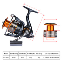 Goture Fishing Reel And Rod Set 2.7m 3.0m 3.6m Telescopic Fishing Rod + 11BB Spinning Reel GT 4000 Combo
