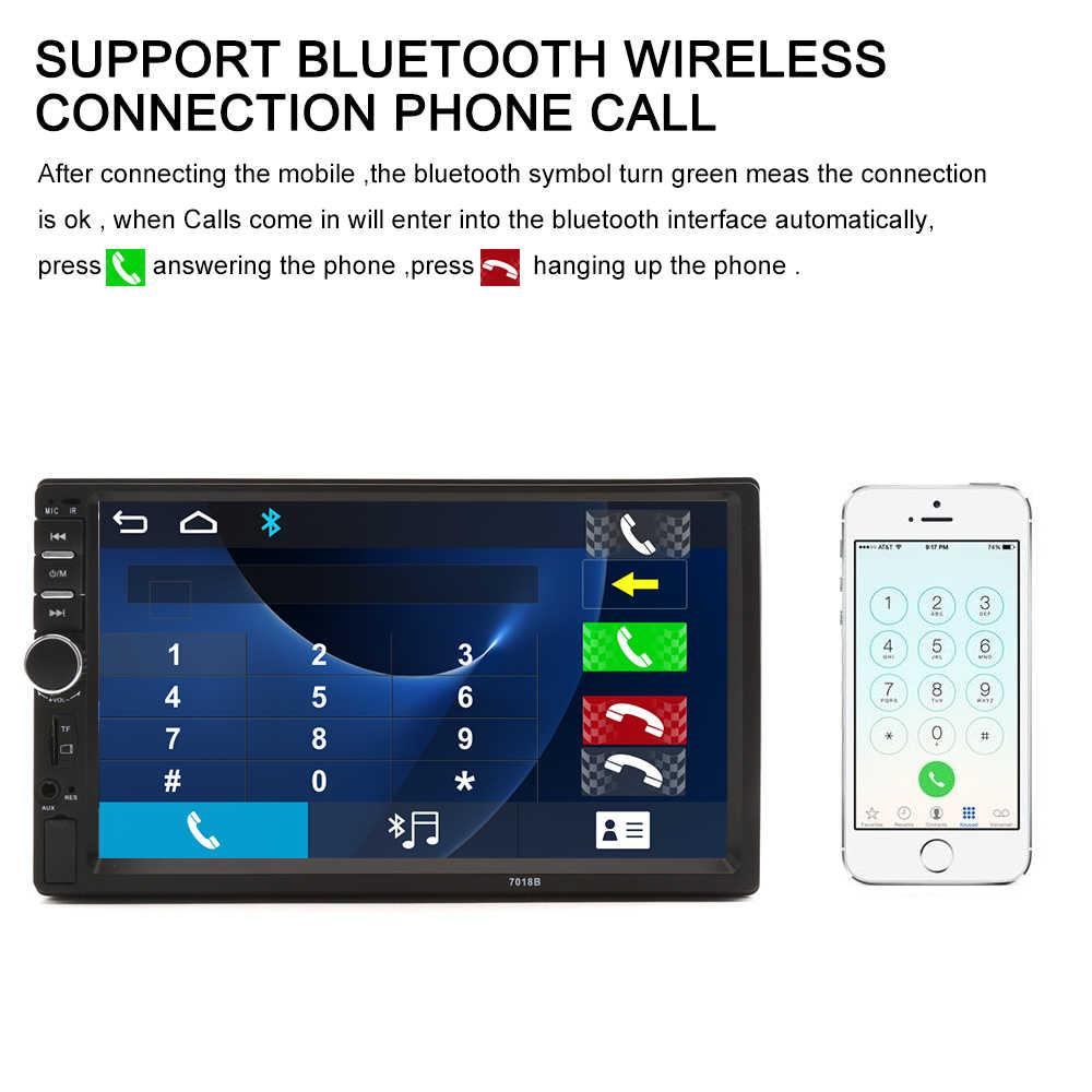"""2 Din 7 """"カーマルチメディアプレーヤーユニバーサル Bluetooth タッチスクリーン MP5 プレーヤー Autoradio TF USB FM ラジオ車メディアプレーヤーオートラジオ"""