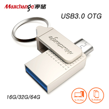 Maxchange USB Flash Drive 64GB OTG Pendrive 32GB Micro USB Portable Storage Device U font b