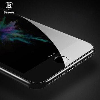 Vidrio Templado Baseus para iPhone 8 8 Plus Protector de pantalla Ultra delgado 9H vidrio Protector para iPhone 7 7 Plus película de cobertura completa