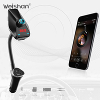 Weishan New Bluetooth Kit Car FM Transmitter With USB Charger Car MP3 Player Support USB SD