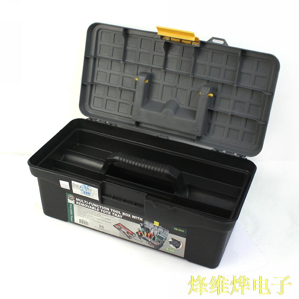 ФОТО Multifunctional double - layer plastic toolbox parts box
