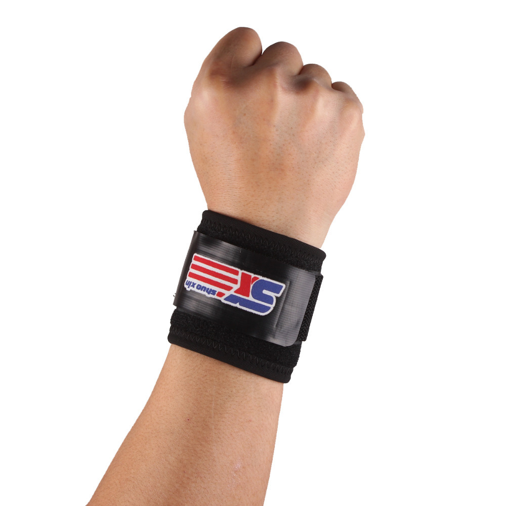 Free Shipping Classic Sports Gym Elastic Stretchy Wrist Joint Brace Support Wrap Band - Black