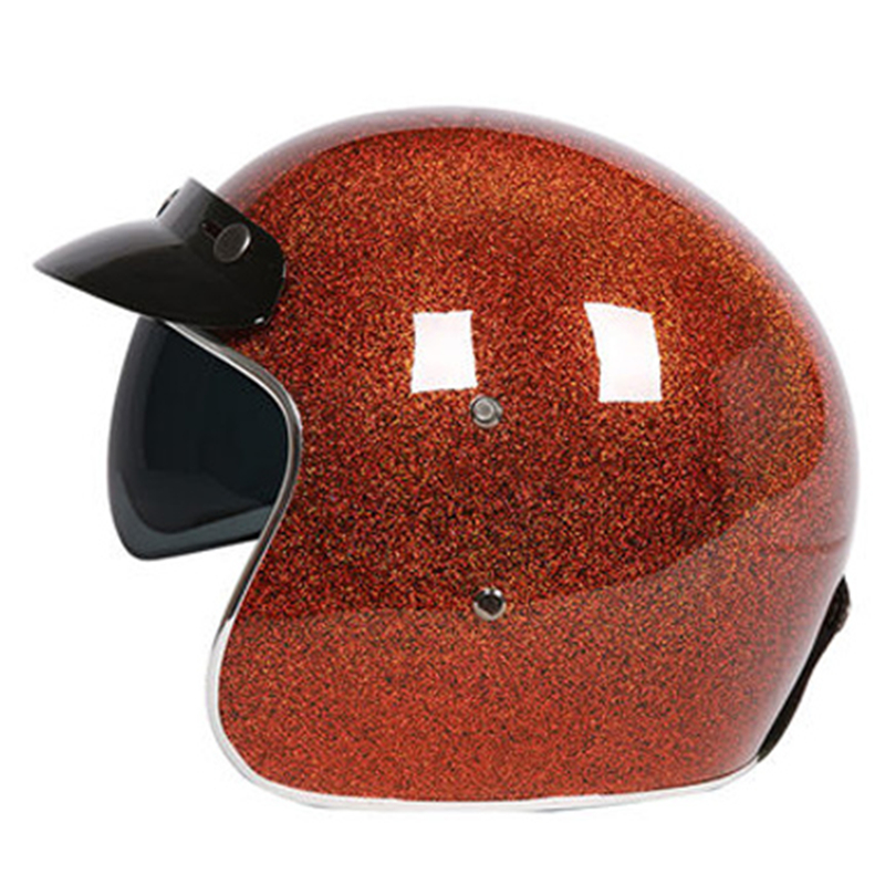 CFR flash painted 3/4 Open face helmet High level Fiberglass shell light weight and comfortable ECE approved moto casco extremely light weight vintage helmet fiberglass shell free style novelty helmet japan style no more mushroon head