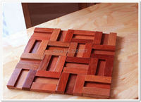 High Quality 1 Box 11sheet Wood Mosaic Tiles Home Walls Decoration Material Backsplash 3D Panels Wood