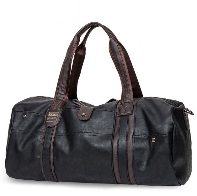 Leather Men Handbag Large Capacity Travel Bag Shoulder Handbag Designer Male Messenger Baggage Bag Casual Crossbody