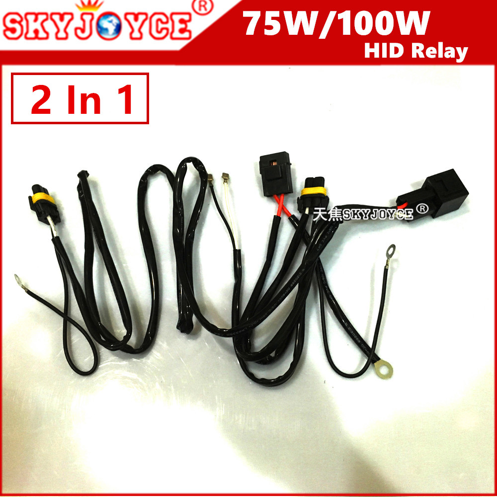 medium resolution of 10x universal hid xenon kit 100w 75w hid wire harness h4 1 h1 h3 9005 9006 hb3 hb4 h11 h7 75w hid relay harness wiring accessory in wire from automobiles