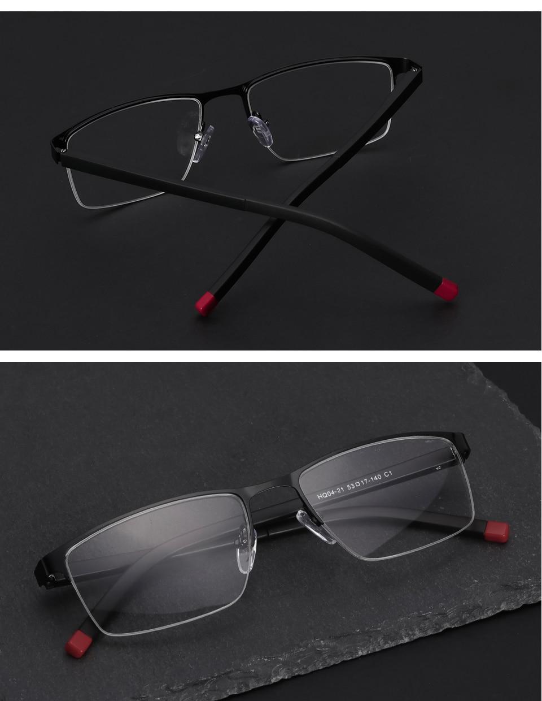 54039e5f9 سبائك إطار مشهد النساء نصف حافة قصر النظر وصفة طبية البصرية شفافة الكمبيوتر  نظارات إطارات أسلوب بسيط # HQ03-35USD 11.77/piece