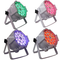 4PCS LOT Aluminum Alloy LED Par 18x18W RGBWA UV 6in1 LED Par Can Par Led Spotlight