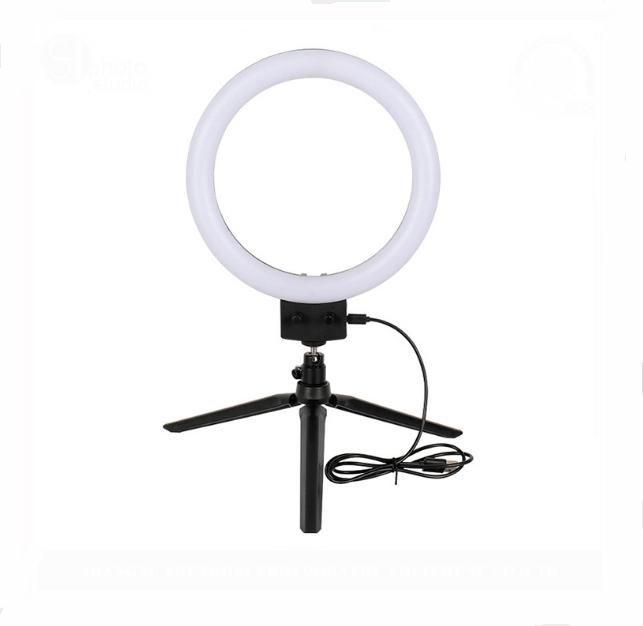LED Selfie Ring Light Youtube Video Live Makeup 5500K Studio Photography Photo Fill Ring Light With Phone Holder USB Plug Tripod