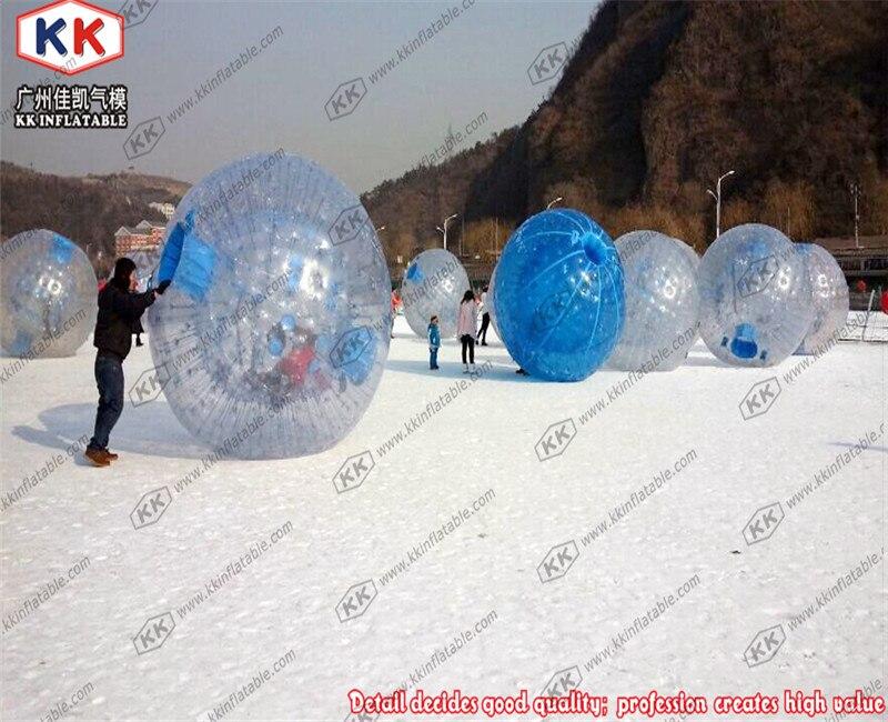 En plein air gonflable transparent vers le bas colline zorb balle