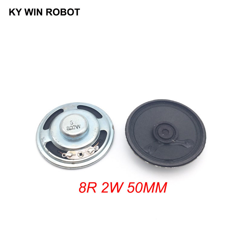 2pcs/lot New Ultra-thin Speaker 8 Ohms 2 Watt 2W 8R Speaker Diameter 50MM 5CM Thickness 13MM
