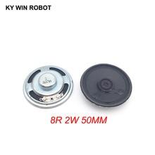 2pcs/lot New Ultra-thin speaker 8 ohms 2 watt 2W 8R Diameter 50MM 5CM thickness 13MM