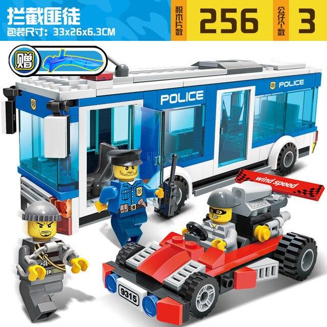 City police Series Educational diy Building Blocks 6