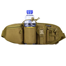 Купить с кэшбэком Free shipping water bottle multi pouches nylon ergonomics design waist bag cheap belt bagfanny pack items military US army gear
