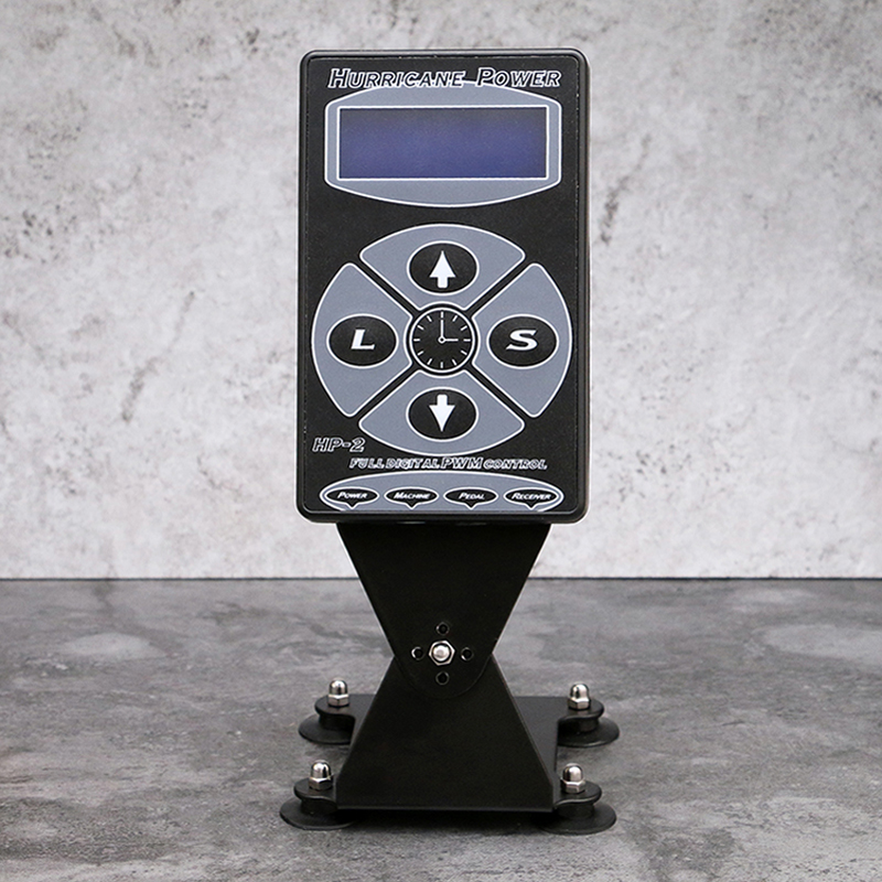 Newest Professional Black HP 2 Hurricane Tattoo Power Supply Digital Dual LCD Display Tattoo Power Supply