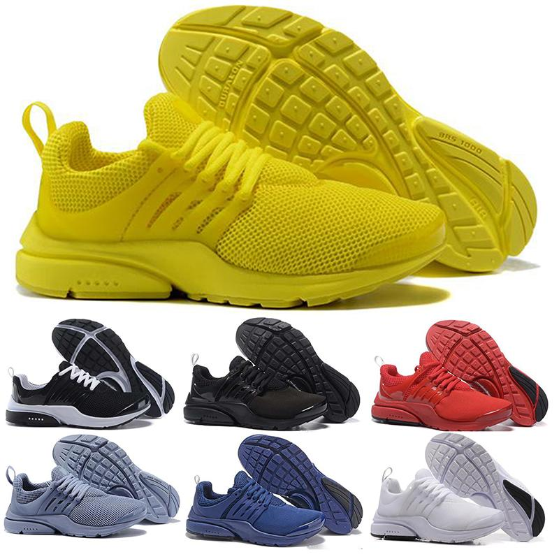 Sports Shoe Top-Presto Mens Sneakers Breathe Black Yellow White Designer Women Walking