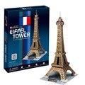 World famous edifício modelo 3D Puzzle Dimensional Brinquedos Modelo Torre Eiffel de Paris Para as crianças brinquedos Educativos dom brinquedos