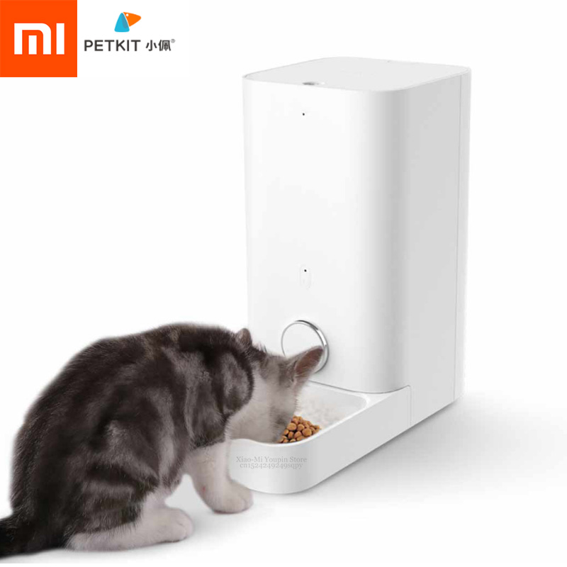 Xiaomi Mijia PETKIT alimentador de gato inteligente Bol automático alimentador de gato mascota nunca atorado alimentador de alimentos frescos para mascotas Cibo Gatto-in control remoto inteligente from Productos electrónicos    1