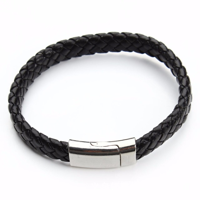 2018 Limited Pulseira Masculina Pulseira Feminina 21cm Braided Pu Leather Bracelets For Bangle & Bracelet Fashion Men Jewelry