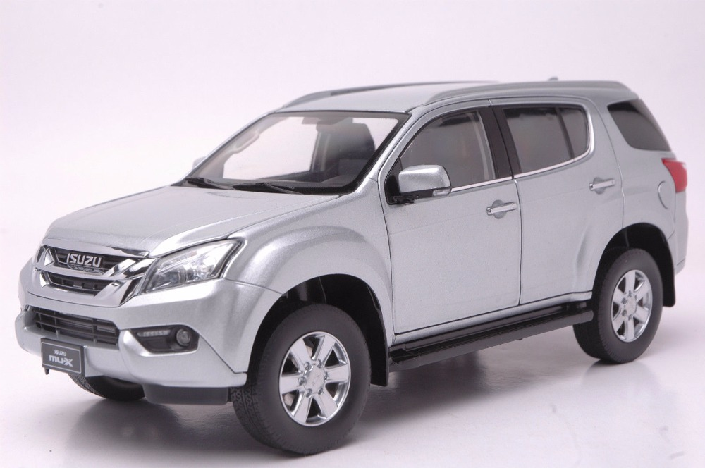 1:18 Diecast Model for ISUZU MU-X Silver SUV Alloy Toy Car Miniature Collection Gifts MUX MU X 1 18 diecast model for isuzu mu x silver suv alloy toy car miniature collection gifts mux mu x