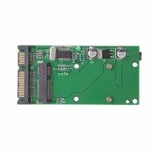 Конвертер карта mSATA SSD Женский к SATA мужской мини USB конвертер карта адаптер модуль Горячий