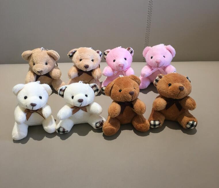 40 قطعة Kawaii الدببة الصغيرة محشوة لعب ، أفخم الجلوس 9 سنتيمتر دب صغير ألعاب من القطيفة مع مفتاح سلسلة-في حيوانات قطيفة ومحشوة من الألعاب والهوايات على  مجموعة 1
