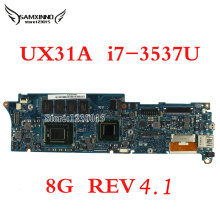 Original for ASUS UX31A Laptop motherboard UX31A2 REV4.1 Mainboard Processor i7-3537 8G Memory ZenBook 100% tested