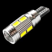 Светодиодная лампа T10 10 SMD 5630 для проектора, 55 Вт, 501, 10 SMD, светодиодный светодиодная автомобильная лампа для габаритных огней, парковочная ла...