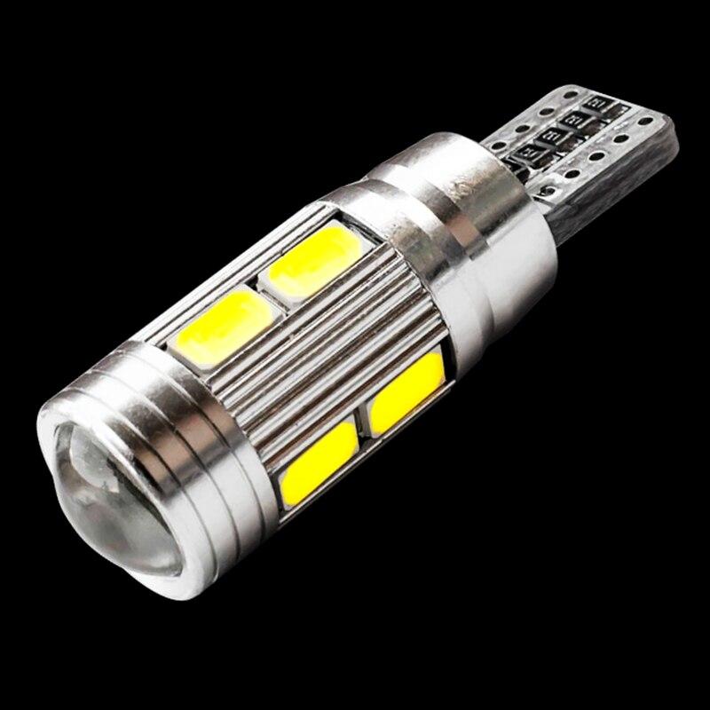 T10 10 smd 5630 led lente do projetor luzes de apuramento automático w5w 501 10smd 5730 led carro marcador lâmpada estacionamento canbus erro livre