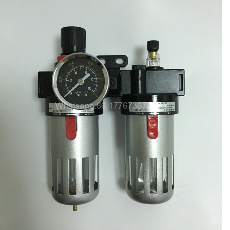 Pneumatic air frl BFC2000 1/4 inch with pressure gauge filter regulator lubricator for filling machine pneumatic frl air filter regulator ac2000 1 4 inch air service unit air tac type pressure reducing valve atomized lubricator