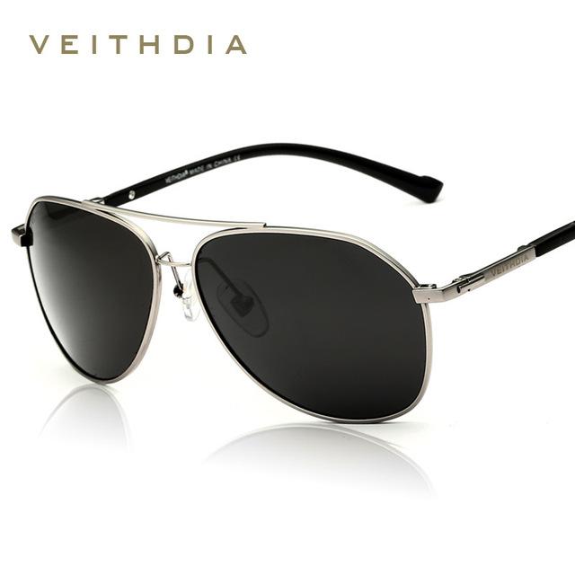 Veithdia polarizada óculos de sol dos homens da marca do vintage 2017 new condução óculos oculos de sol masculino 2366 ao ar livre óculos óculos