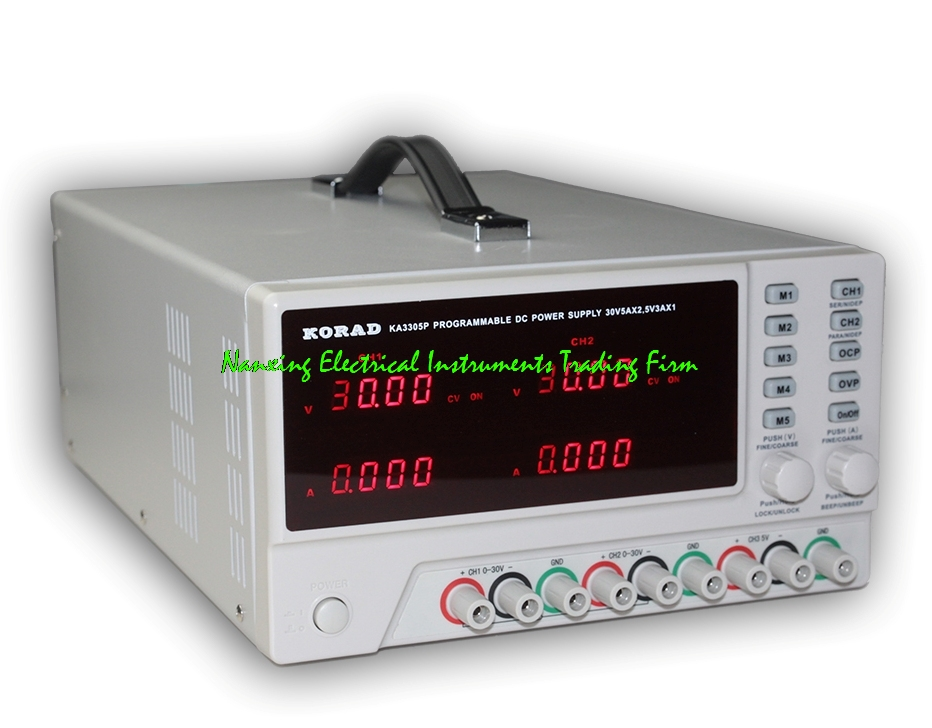 KORAD KA3305P/KA3305D Programmable Precision Variable Adjustable 30V, 5A DC Triple Linear Power Supply Digital Regulated ps1305 dc regulated variable power supply 30v 5a 4 digital lcd display