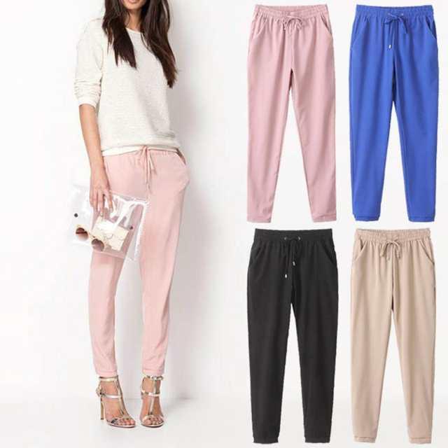 a372856a28d Online Shop 2017 Chiffon Pants Autumn Women Long Pants Casual Harem Pants  Drawstring Elastic Waist Pants Plus Size Women Trousers