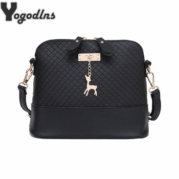 HOT SALE!2018 Women Messenger Bags Fashion Mini Bag With Deer Toy Shell Shape Bag Women Shoulder Bags handbag