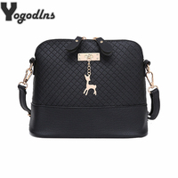 HOT SALE 2016 Women Messenger Bags Fashion Mini Bag With Deer Toy Shell Shape Bag Women