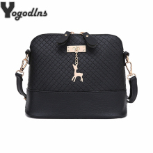 HOT SALE!2017 Women Messenger Bags Fashion Mini Bag With Deer Toy Shell Shape Bag Women Shoulder Bags handbag