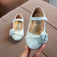 COZULMA/новая детская обувь для девочек, повседневная кожаная обувь для девочек, обувь Мэри Джейн с бисером и цветами, детская обувь с мягкой по...