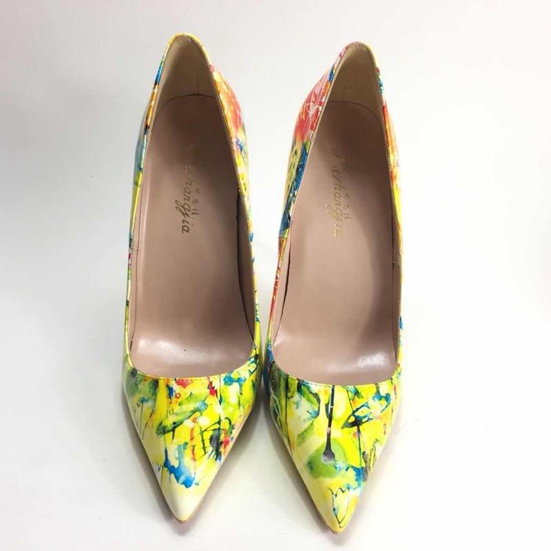 2018 ربيع جديد السيدات عالية الكعب مضخات ol الوظيفي واشار تو عالية الكعب بو الجلود رسمت ارتفاع كعوب النساء مضخات-في أحذية نسائية من أحذية على  مجموعة 1