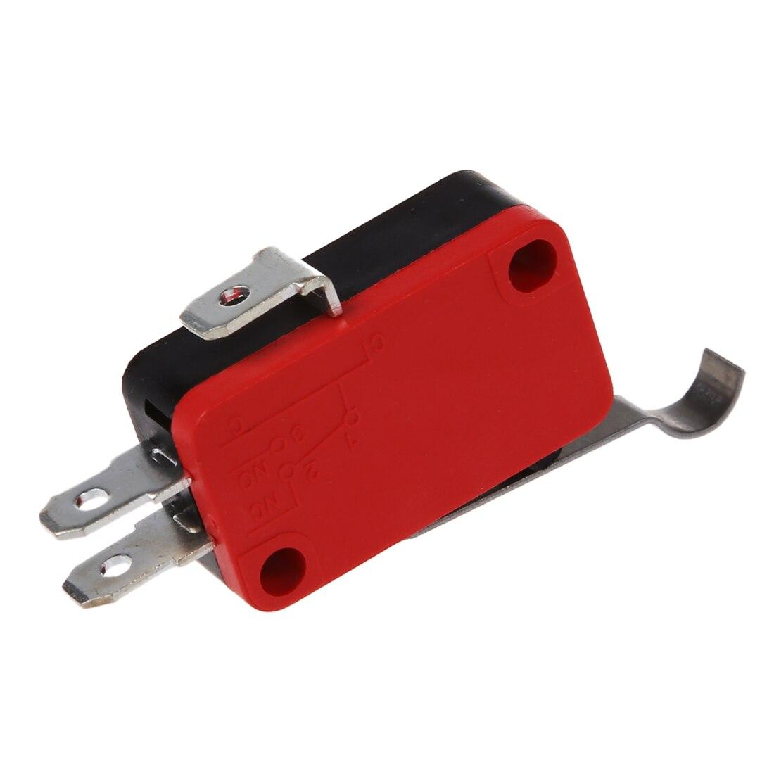 Оптовые пункт 10 шт. короткие шарнир рычаг SPDT Мгновенный Концевой мини-выключатель 0.6A 125VDC