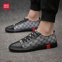 WeiDeng Casual Cow Genuine Leather Men Flats Shoes Lace Up Fashion Male Shoes Comfortable Summer Light High Quality Plus Size