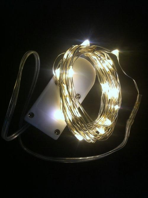 100pcs lot 2m 20leds fairy benable string light micro led. Black Bedroom Furniture Sets. Home Design Ideas