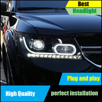 Car Styling Head Lamp For Dodge Journey JCUV For Fiat Freemont Headlights 2009 2016 LED Headlight DRL Dynamic turn signal Light