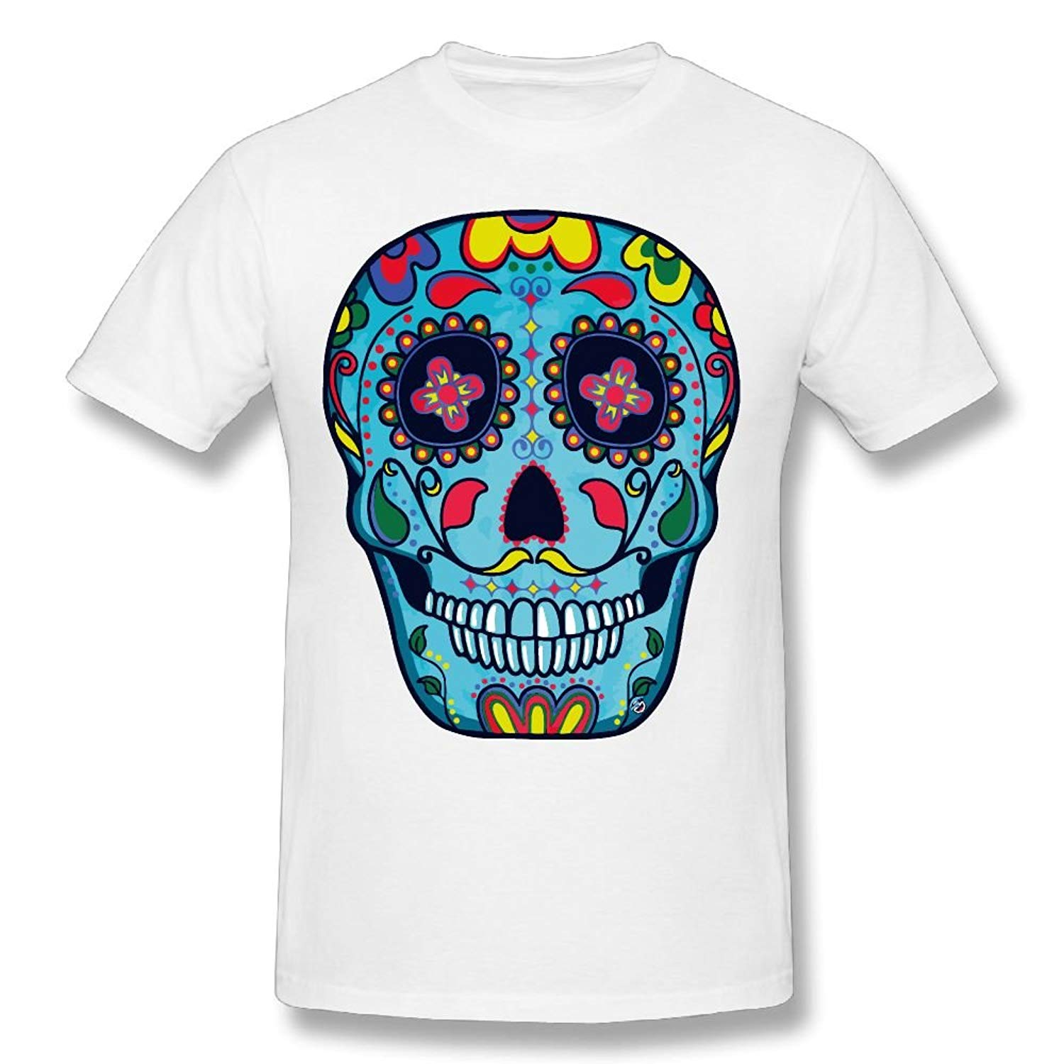 Men 39 s Sugar Skull 100 Cotton Prints Casual Short Sleeve T Shirt Printing Casual T Shirt Men 39 S Tees New 2018 Funny in T Shirts from Men 39 s Clothing