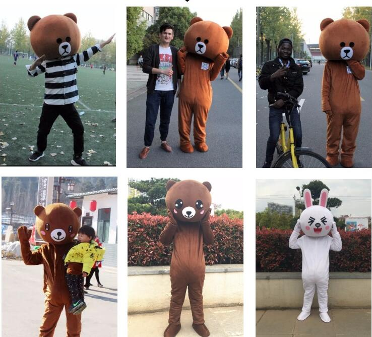 Web celebrity bear brown bear cartoon doll costume adult walk show costume custom shaker bear web celebrity bear suit
