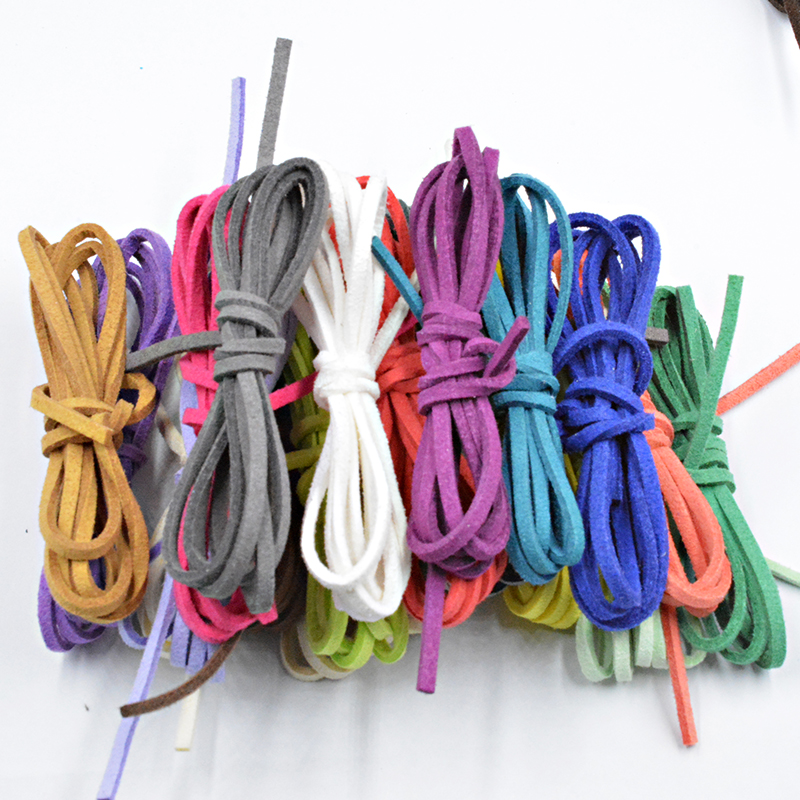 NEW 27 Colors 2.6x1.5mm 5M Flat Faux Suede Korean Velvet Leather Cord Materials DIY for Jewelry Making Bracelet&Necklace
