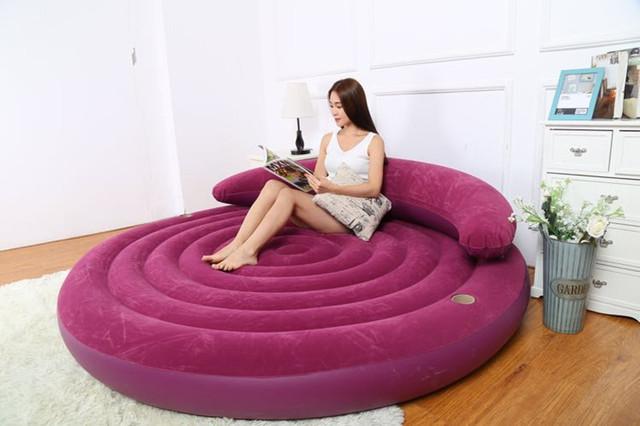 Nuevo estilo de Alto grado que acuden sofá respaldo tiempo de Ocio sofá cama Inflable Entrega Gratuita